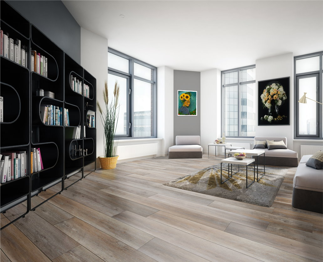 Modern living with with appalachian flooring