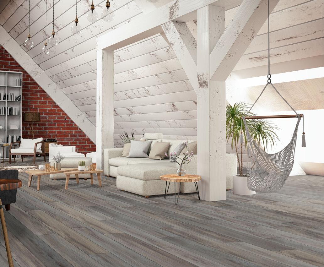 Relaxing living room with parisian mist floor